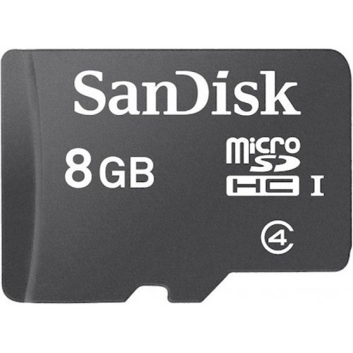 SanDisk 8GB Class 4 MicroSDHC Flash Memory Card