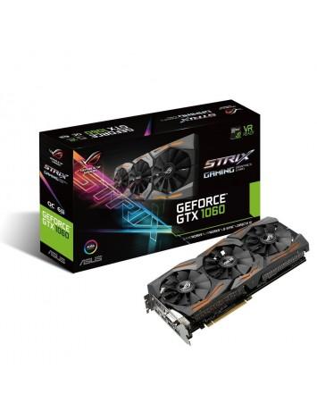Asus nVidia GEFORCE GTX 1060 6GB ROG STRIX VR Ready HDMI 2.0 DP 1.4 Graphics Card (STRIX-GTX1060-6G-GAMING)