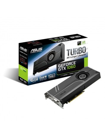 Asus nVidia GEFORCE GTX 1060 6GB Turbo Edition VR Ready Dual HDMI 2.0 DP 1.4 Auto-Extreme Graphics Card (TURBO-GTX1060-6G)