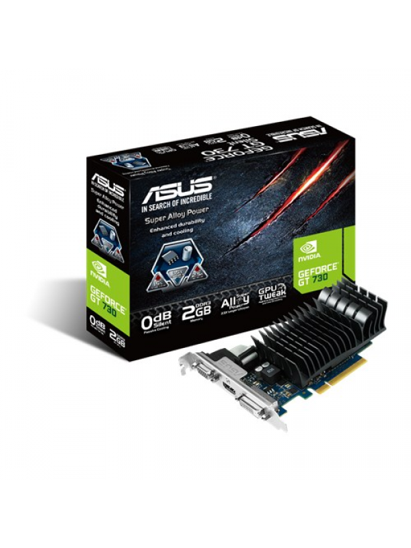 Asus nVIDIA GeForce GT730 Silent 2GB GDDR3 Graphics Card ( GT730-SL-2GD3-BRK )
