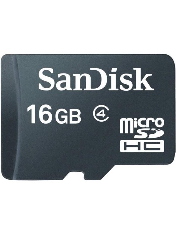 SanDisk 16GB Class 4 MicroSDHC Flash Memory Card