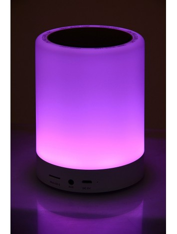 ADL Music D-88 Wireless Bluetooth Portable Speaker with Smart Touch LED Lamp
