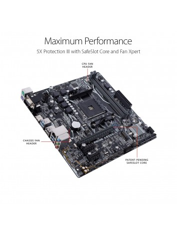 Asus PRIME A320M-K AMD uATX Motherboard - AM4 Socket for 7th Generation A-series/ Ryzen/ Athlon Processors