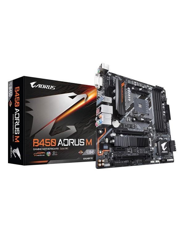 Gigabyte B450 AORUS M Micro ATX AMD Motherboard - AM4 Socket