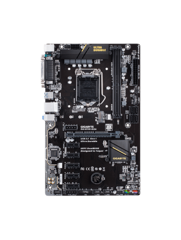 Gigabyte H110-D3A LGA 1151 ATX Intel Motherboard for Bitcoin/ Cryptocurrency Mining
