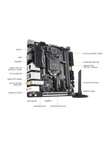 Gigabyte H370N WIFI LGA 1151 (300 Series) Mini ITX Intel Motherboard
