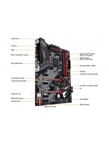 Gigabyte Z370 AORUS Gaming 3 LGA 1151 (300 Series) ATX Intel Motherboard