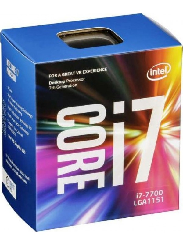 Intel 7th Gen Core i7-7700 Desktop Quad Core Processor (3.6 GHz/ FCLGA1151 Socket/ 8MB Cache)