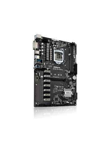 ASRock H110 Pro BTC + LGA1151 Socket Motherboard for Bitcoin Mining