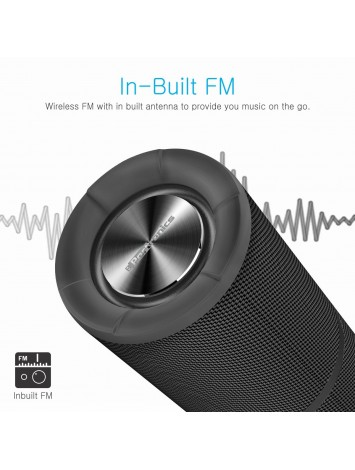 Portronics Breeze POR-795 Bluetooth Wireless Speaker with FM Tuner, 3.5mm AUX, Micro SD Card, Powerful 8W Sound, In-built Mic