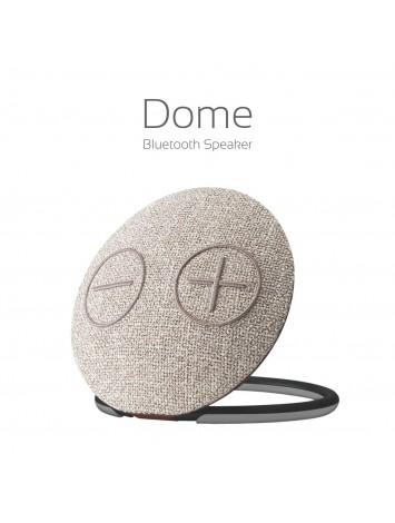 Portronics Dome Portable Bluetooth Wireless Speaker with Mic (Brown) - POR-684