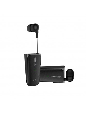Portronics Harmonics Klip II (H103) Retractable In-Ear Bluetooth Earphones for Music & Calls(Black)-POR-811