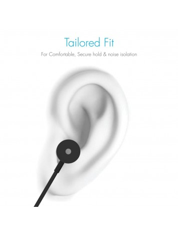 Portronics Conch 204  In-Ear Stereo Headphone with Mic (Black)