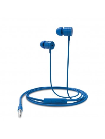 Portronics Conch 204 Blue In-Ear Stereo Headphone - 3.5mm Aux Port, In-Line High Quality Mic, Soft Silicon Ear-Buds For Great Bass Effect Wired Headset With Mic - POR-767