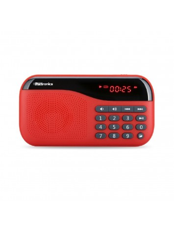 Portronics Plugs Red Portable Speaker POR-143 - AUX+FM+MICRO SD+LED DISPLAY