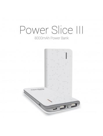 Portronics Power Slice 3 8000 mAh Power Bank(White)
