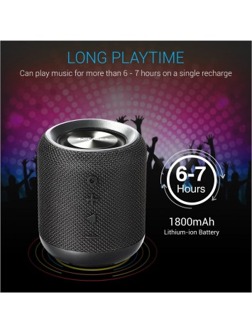 Portronics Sound Drum Portable Bluetooth Speaker with FM & USB Music, Black (POR-871)