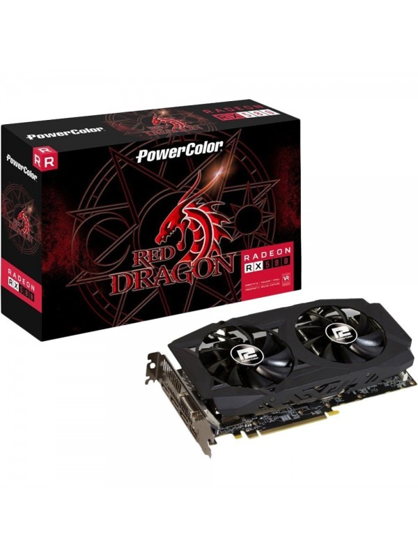 PowerColor AMD Radeon RX 580 8GB DDR5 Red Dragon V2 Graphics Card (AXRX 580 8GBD5-3DHDV2/OC)