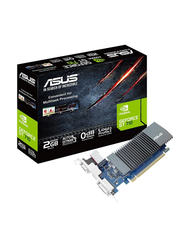 ASUS GeForce GT 710 2GB GDDR5 Graphics Card with HDMI/ VGA/ DVI Ports (GT710-SL-2GD5-BRK)