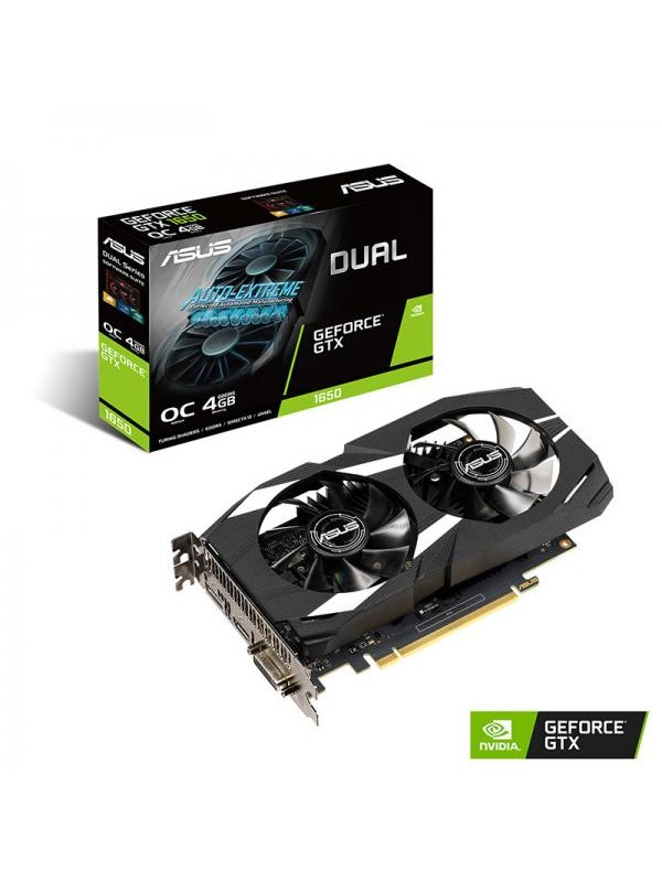 ASUS Dual GeForce® GTX 1650 OC edition 4GB GDDR5 Graphics Card (DUAL-GTX1650-O4G)