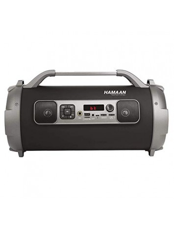 Hamaan Flash Box Portable Wireless 5-in-1 Speaker with FM Radio/3600mAh Battery/RGB Light/USB/AUX-in/Micro SD & Sub-woofer