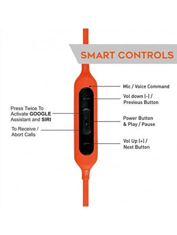 Hamaan B-11 Wireless Bluetooth Earphones (Fiery Orange)