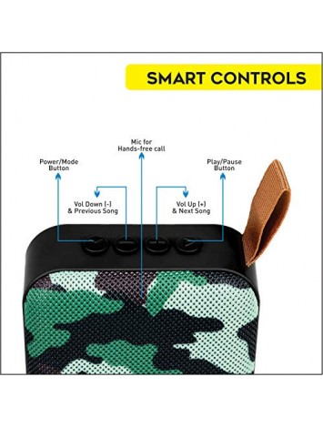 Hamaan P-5 Portable Wireless Bluetooth Speaker (Camoflague)