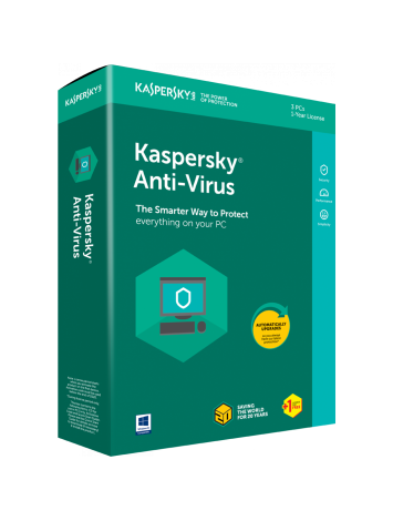 Kaspersky Anti-Virus Latest Version - 3 Users, 1 Year (1 CD inside with 1 key)