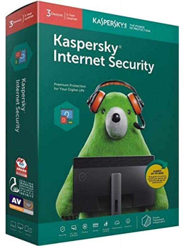 Kaspersky Internet Security Latest Version - 3 Users, 3 Year (1 CD inside with 1 key)