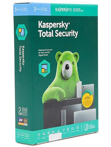 Kaspersky Total Security Latest Version - 3 Users, 3 Year (1 CD inside with 1 key)