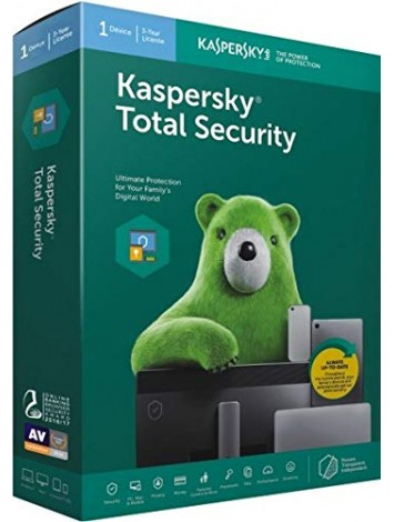 Kaspersky Total Security Latest Version - 1 User, 3 Year (1 CD inside with 1 key)