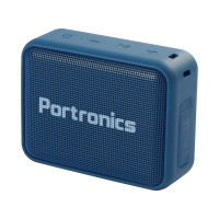 Portronics Dynamo Bluetooth 5.0 Portable Stereo Speaker With TWS, USB Music & FM Music And Clear Bass Sound - Blue