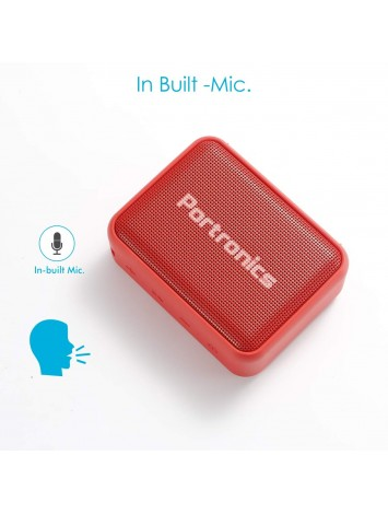 Portronics Dynamo Bluetooth 5.0 Portable Stereo Speaker with TWS, USB Music & FM Music and Clear Bass Sound - Red