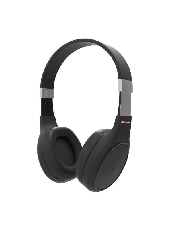 Portronics Muffs Plus Wireless Bluetooth Headphone with Mic - Black (POR-762)