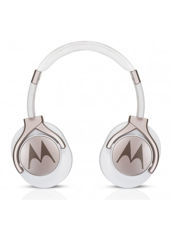 Motorola Pulse Max White Wired Headphones with Mic