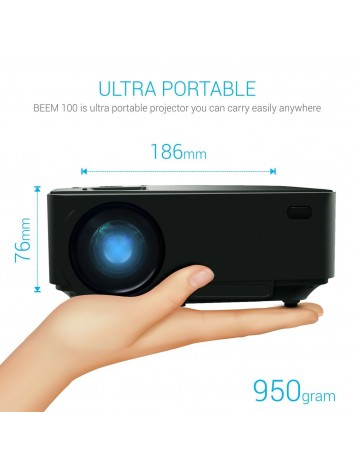 Portronics Beem 100 Portable LED Projector for Watching Movies & Presentation [POR 624]