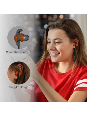Portronics Harmonics 212 HD Stereo Wireless Bluetooth Sports Headset with High Bass, Powerful Audio Drivers, Comfort Fit, Superior Grip, Built-in Mic for Calls