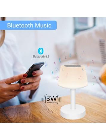 Portronics iLUMI Smart Touch Multicolor LED Lamp/ Bluetooth Speaker with Mic (POR-719)