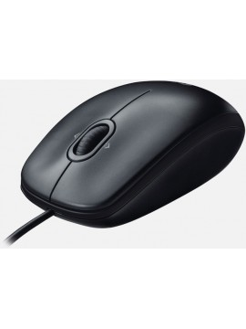 Logitech M100 USB Mouse - Black