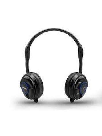 Portronics Muffs Wireless Bluetooth Music Headphone(BSH10) - Black