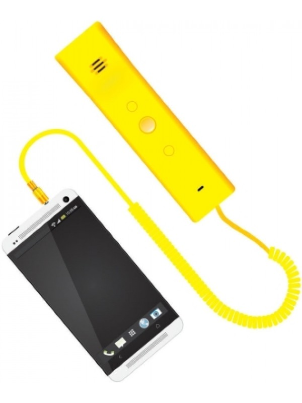Portronics Phoni 3 - Retro Wired Headset For Mobile phone(Yellow)