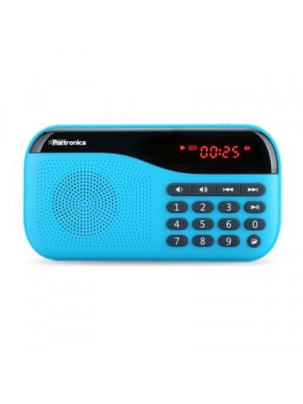 Portronics Plugs Portable Speaker - Blue