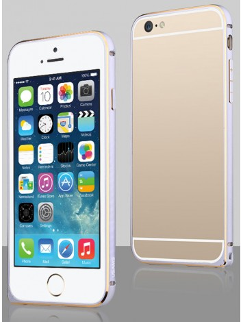 USAMS Arco Series Aluminium Alloy Protective Bumper Case for iPhone 6 / 6Plus With Arc Edge Clear Frame Design