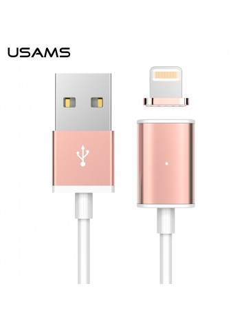 Usams Magnet Series Data Cable Fast Data Transmit And Fast Charging Lightning Cable For Apple iPhone 6S and iPad