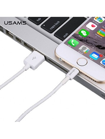 USAMS White USB Cable FOR iPhone 5/5s/6/6plus iOS 8.1(1.5m)