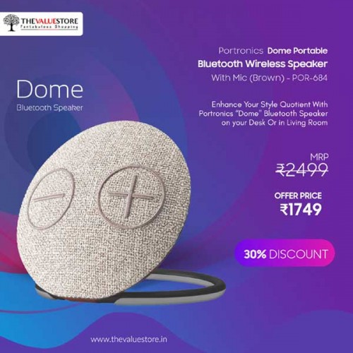 Portronics Dome Portable Bluetooth Wireless Speaker With Mic
