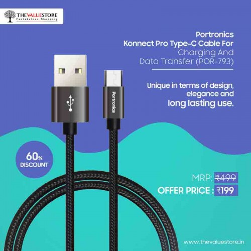 Portronics Konnect Pro Type-C Cable
