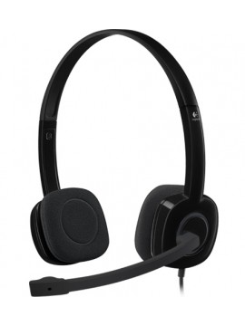 Logitech H151 Stereo Headset -Black