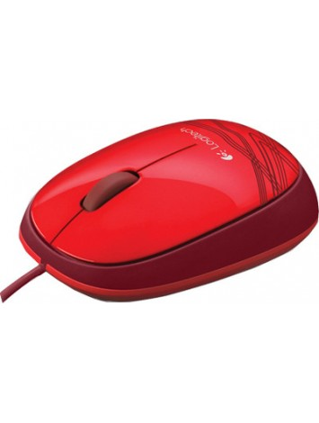 Logitech M105 Wired USB Mouse - Red