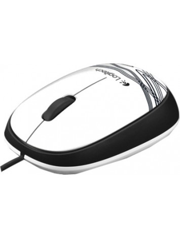 Logitech M105 Wired USB Mouse - White